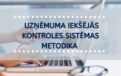 ATJAUNOTA – Iekšējās kontroles sistēmas metodika