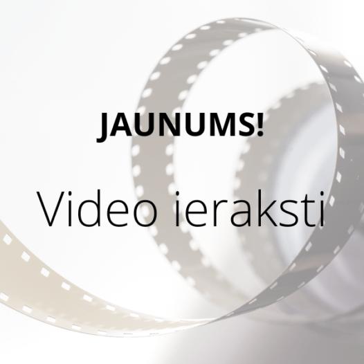 Esam ieviesuši vēl kādu jaunumu – semināru video ierakstus!