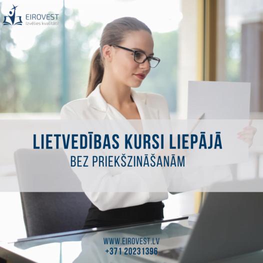 Lietvedības kursi Liepājā – jau no 10. oktobra!