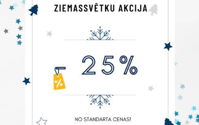 Ziemassvētku akcija – 25% no standarta cenas