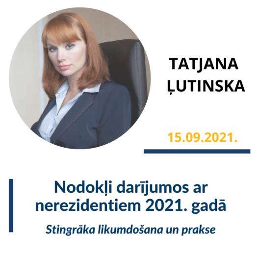 Nodokļi darījumos ar nerezidentiem 2021. gadā